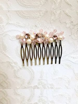 Blush Beads Haircomb