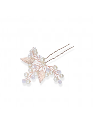 Sweet Leaves Hairpin | Rose & Gold