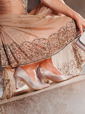 Jamila |Rose-Gold Glitter
