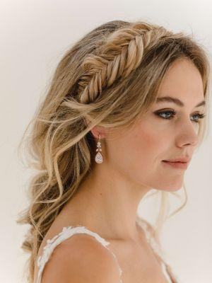 Gaia Earrings   Rose Gold