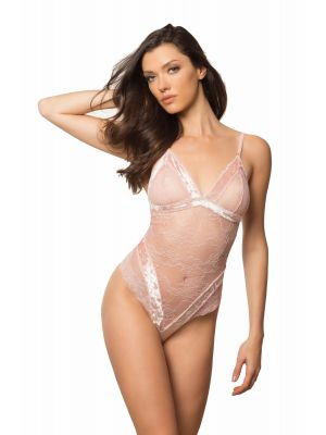 Velvet & Lace Body | Silver Pink